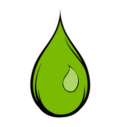 green water drop icon cartoon vector image