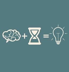 Idea concept brain time idea vector