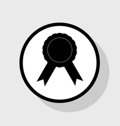 Label sign ribbons flat black icon in vector