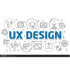 lines template ux design vector image vector image