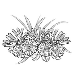 monochrome black and white composition vector image vector image