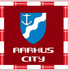 national ensigns of denmark - aarhus vector image vector image