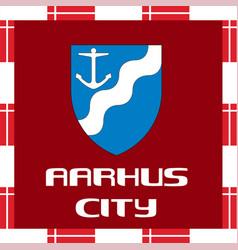 national ensigns of denmark - aarhus vector image
