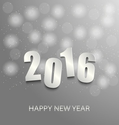 New Year card with abstract circles background vector image vector image