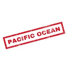 Pacific ocean rubber stamp vector