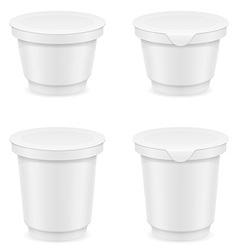Plastic container of yogurt or ice cream 05 vector
