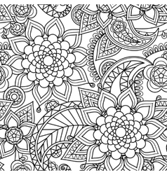 Seamless asian paisley pattern vector image