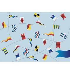 Set of nautical flags vector