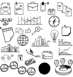 set of social media business finance vector image vector image