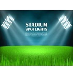 Stadium spotlights concept vector