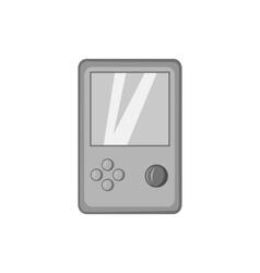 Tetris icon black monochrome style vector image