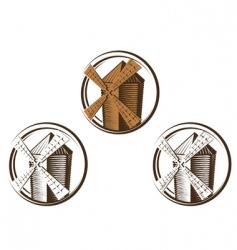 Windmill symbols vector