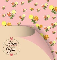 With love and flower vector