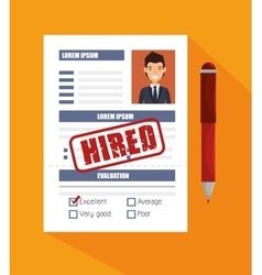 Curriculum recruitment employee isolated vector