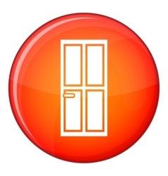 Glass door icon flat style vector
