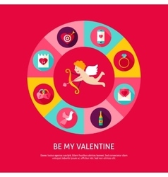 Be my valentine concept vector