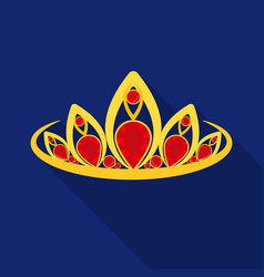 diadem icon in flat style isolated on white vector image