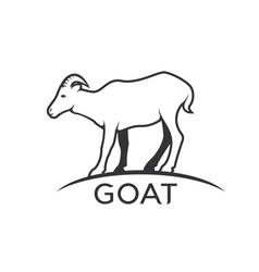 Goats mountain on white background wild animals vector