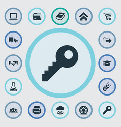 Set of simple trade icons elements house location vector