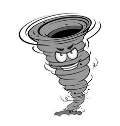 Angry hurricane vector image