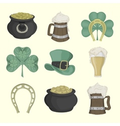Set of pictures for st patricks day colored vector