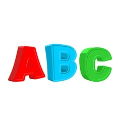 Abc colorful letters vector