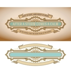 Vintage banner design with floral details vector