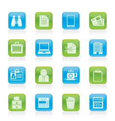 business and office elements icons vector image