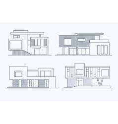Houses linear 9 vector