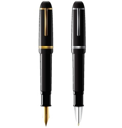 Ballpoint and fountain pens vector image