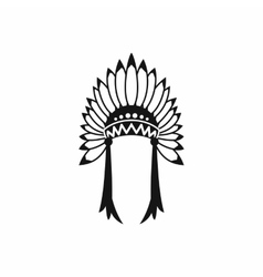 Indian headdress icon simple style vector