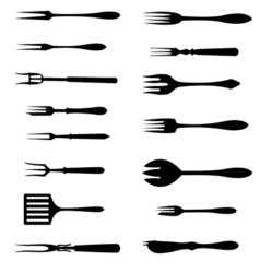 Forks icon set vector