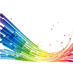 Abstract stripes rainbow background vector image
