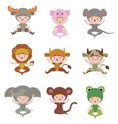Baby animals collection vector