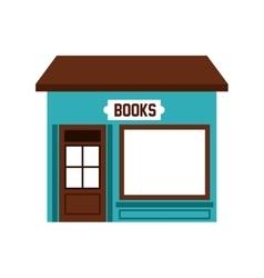 Books store building icon vector