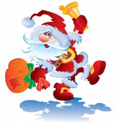 cheerful santa vector image vector image