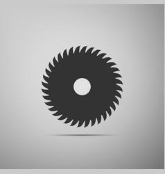 circular saw blade icon saw wheel vector image