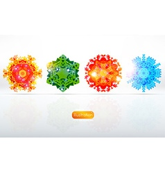 Colorful snowflake background vector