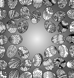 eggbackground pattern vector image vector image
