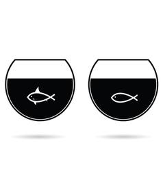 fish in water black vector image