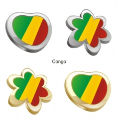 flag of Congo vector image vector image