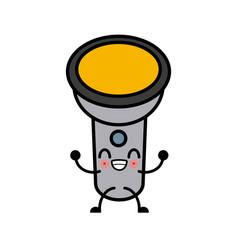 Flashlight cartoon isolated cute kawaii cartoon vector