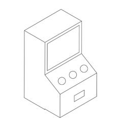 Game machine icon isometric 3d vector