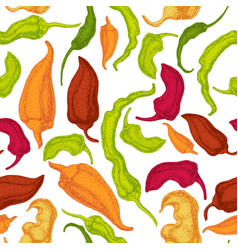 hand drawn pepper seamless pattern vector image vector image