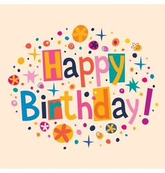 Happy Birthday 7 vector image