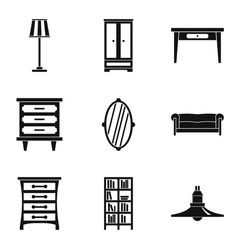 Household work icons set simple style vector