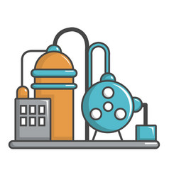Industrial abstract machine icon cartoon style vector