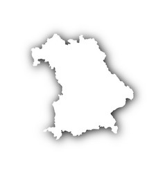Map of bavaria with shadow vector