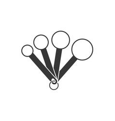 Measuring spoon silhouette design icon vector