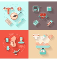 Pregnancy design concept vector
